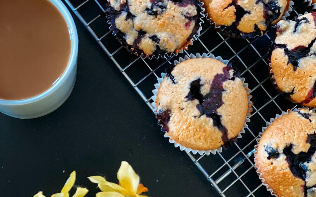 Blueberry Banana Hemp Muffins