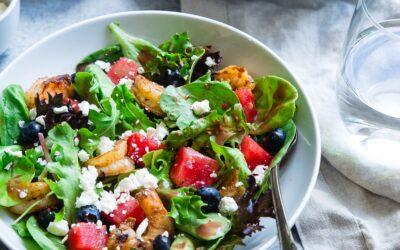 Blueberry Hemp Seed Salad