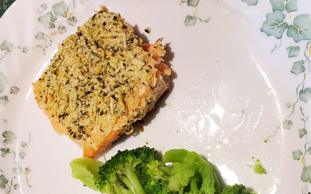 Hemp and Pecorino Crusted Salmon