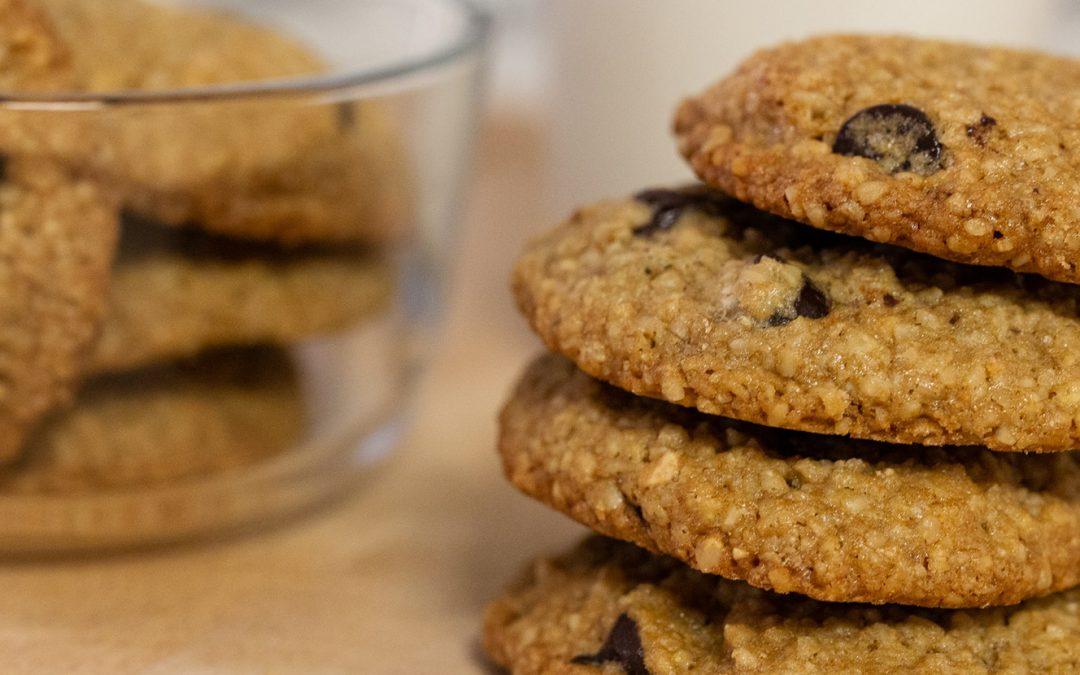 Chia Hemp Seed Oatmeal Cookies